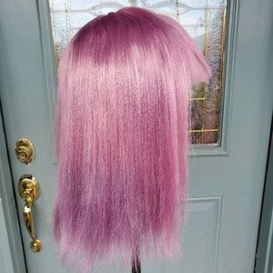 New [Custom Dyed] Ombre Purple Wig with Bangs